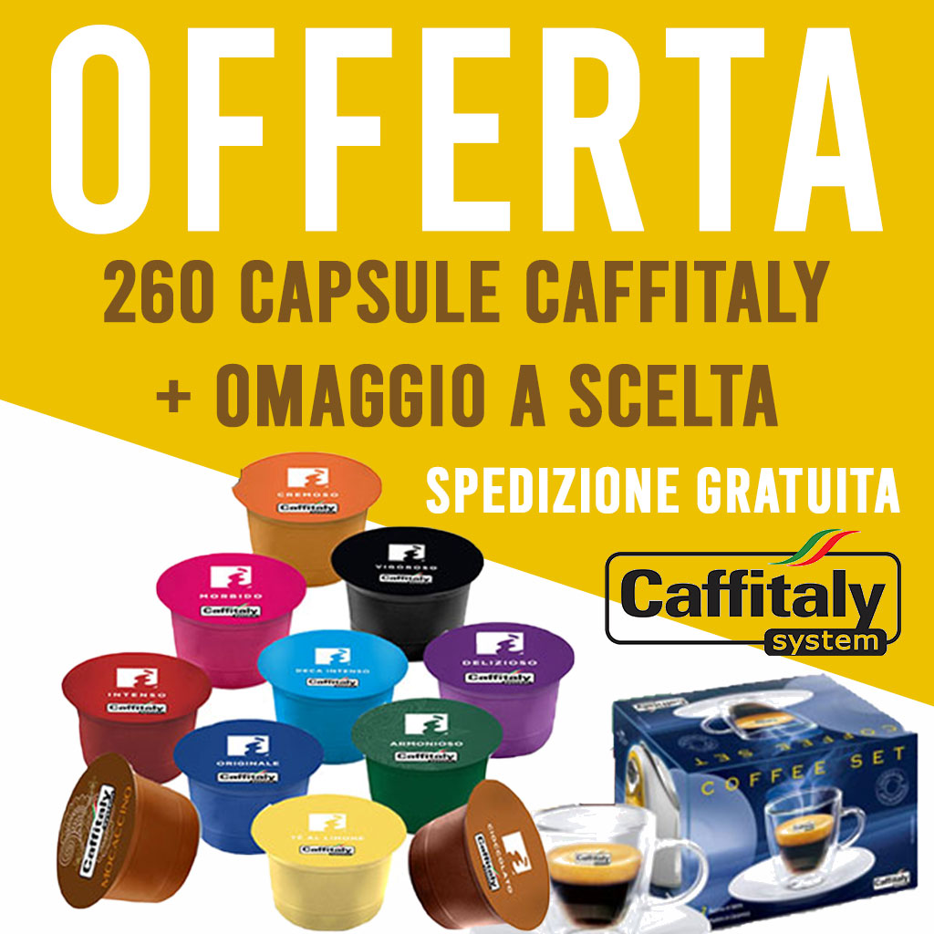 Offerta 240 capsule Caffitaly + 20 OMAGGIO - Tot 260